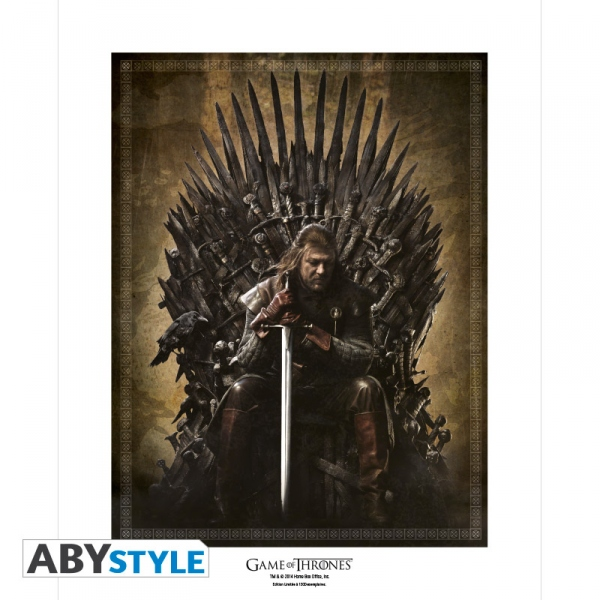 Game Of Thrones Collector Artprint Trône De Fer 50X40 cm Abystyle