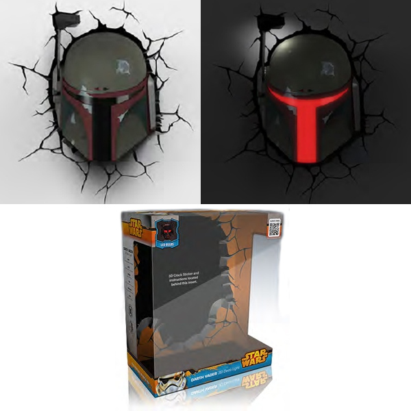 Star Wars - Lampe Décorative 3D Boba Fett
