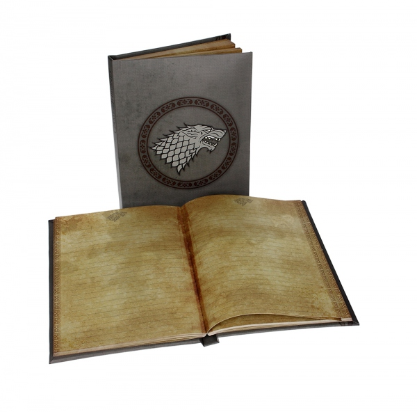 Game Of Thrones cahier lumineux Stark