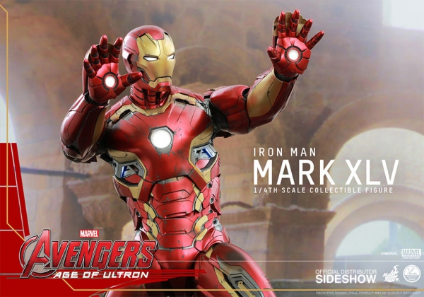 Avengers 2 L'Ère d'Ultron figurine QS Series Iron Man Mark 45 XLV 51 cm Hot Toys