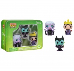 Disney pack 3 figurines Pocket POP! 08 Tin Maleficent, Ursula, Evil Queen Funko
