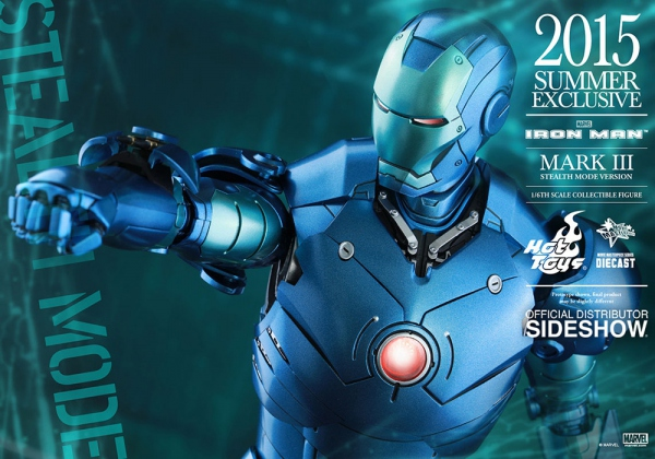 "Iron Man figurine MMS Diecast Iron Man Mark III Stealth Mode Ver. 2015 Summer Exclu 12"" Hot Toys"