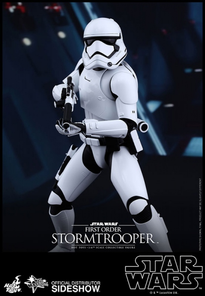 "Star Wars Episode VII figurine Movie Masterpiece First Order Stormtrooper  12"" Hot Toys"