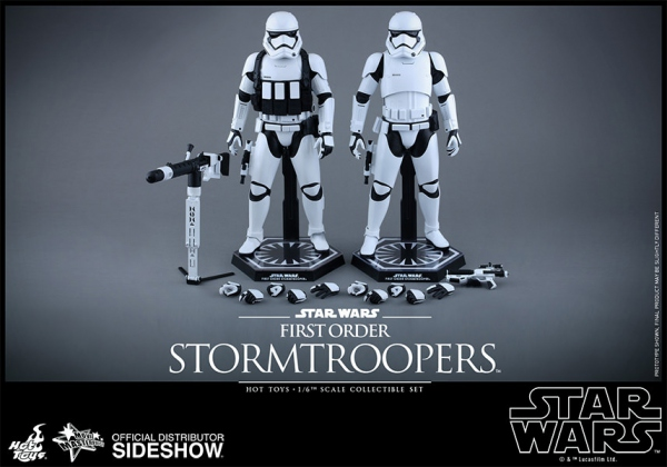 "Star Wars Episode VII pack 2 figurines Movie Masterpiece First Order Stormtrooper 12"" Hot Toys"