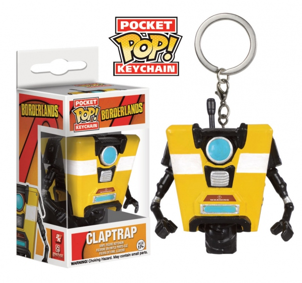 Borderlands porte-clés Pocket POP! Vinyl Claptrap Funko