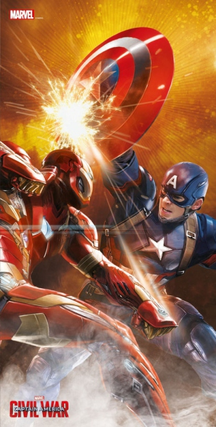 Captain America Civil War poster en verre Fight 60 x 30 cm