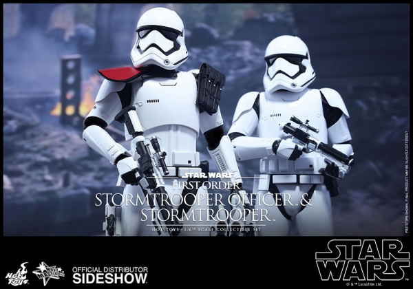 "Star Wars Episode VII pack 2 figurines Movie Masterpiece First Order Stormtrooper & FOS Officer 12"" Hot Toys"