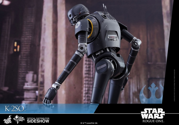 "Star Wars Rogue One figurine Movie Masterpiece K-2SO 12"" Hot Toys EPUISE"