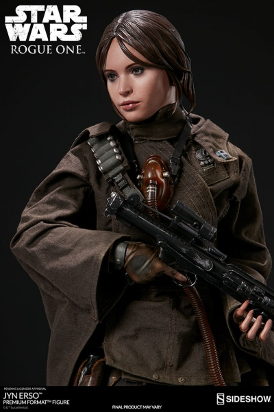 Star Wars Rogue One statue Premium Format Jyn Erso Sideshow EPUISE