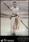 "Star Wars Episode VII pack 2 figurines Movie Masterpiece Rey & BB-8 12"" Hot Toys"