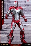 "Iron Man 2 figurine Movie Masterpiece Diecast Iron Man Mark V 12"" Hot Toys"