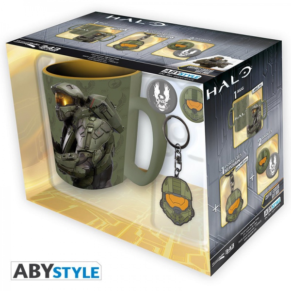 Halo Pack Mug + Porte-Clés + Badges Halo Abystyle