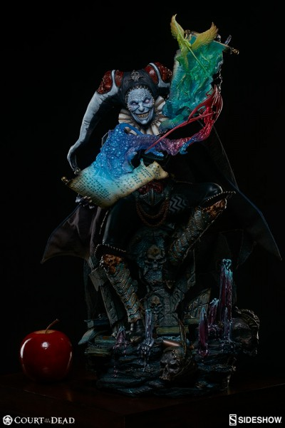 Court of the Dead statue Premium Format Malavestros Deaths Chronicler Fool Sideshow