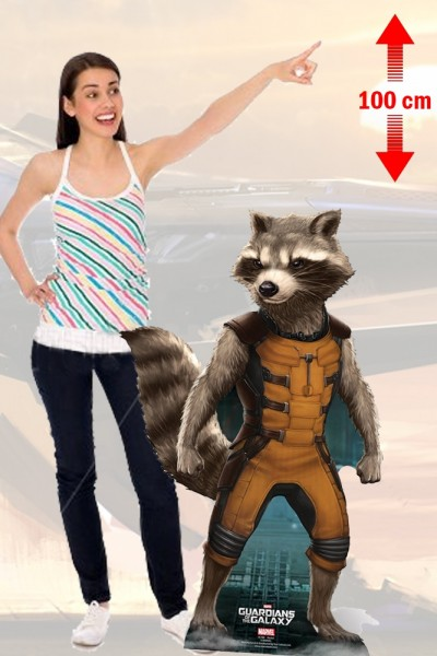 Guardians Of The Galax Rocket Raccoon Silhouette Taille Réelle Cutout 100 cm