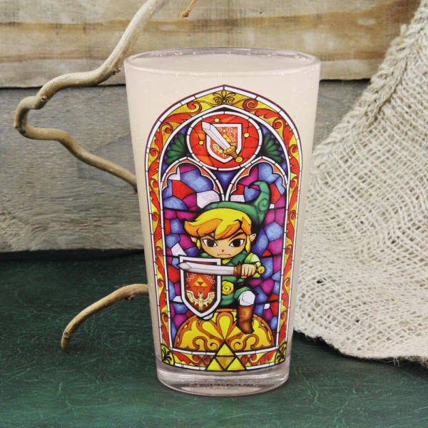 Legend of Zelda Wind Waker verre Link Vitrail