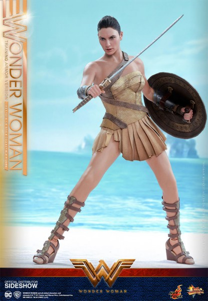 "Wonder Woman figurine Movie Masterpiece Wonder Woman Training Armor 12"" Hot Toys"
