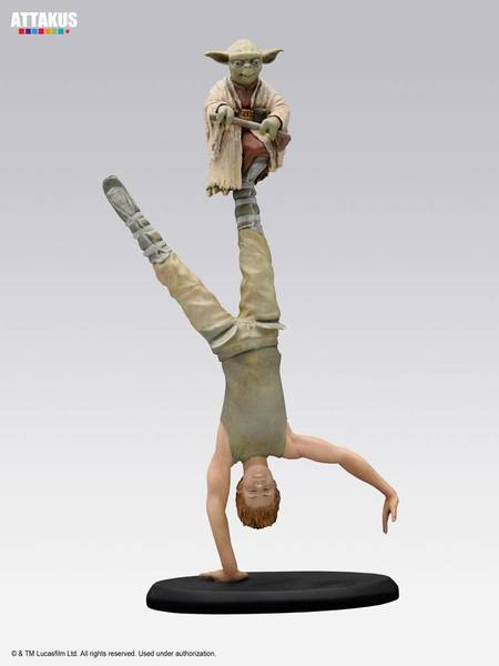 Star Wars Elite Collection statue Yoda & Luke Skywalker Dagobah Training Attakus