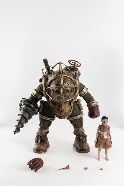 BioShock pack 2 figurines Big Daddy & Little Sister TheeZero
