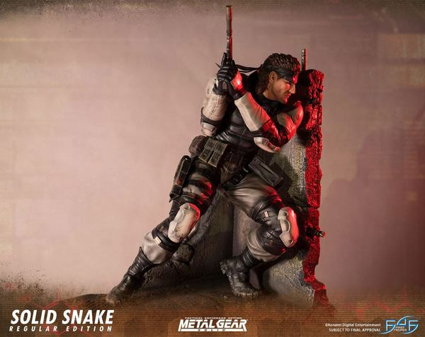Metal Gear Solid statue Solid Snake First 4 Figures
