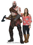God of War 2018 statue 1/1 Kratos mousse & latex 190 cm Neca