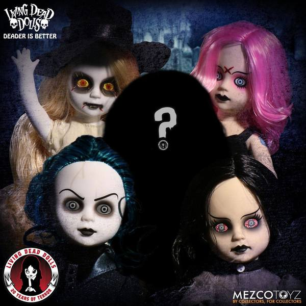 Living Dead Dolls 20th Anniversary assortiment 5 poupées Mezco LDD