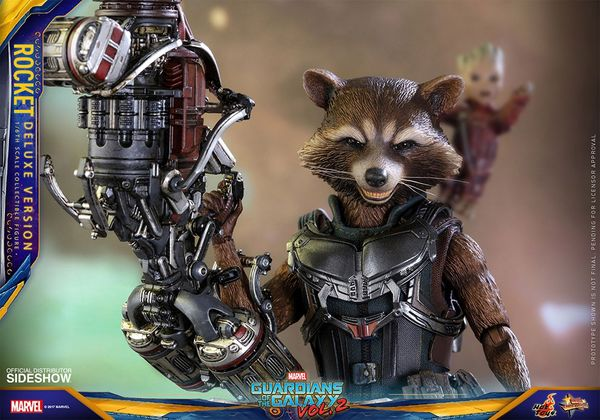 "Les Gardiens de la Galaxie 2 Rocket Deluxe version 12"" Hot Toys"