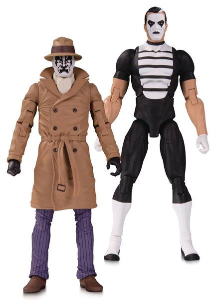 Doomsday Clock pack 2 figurines Rorschach & Mime DC Collectibles
