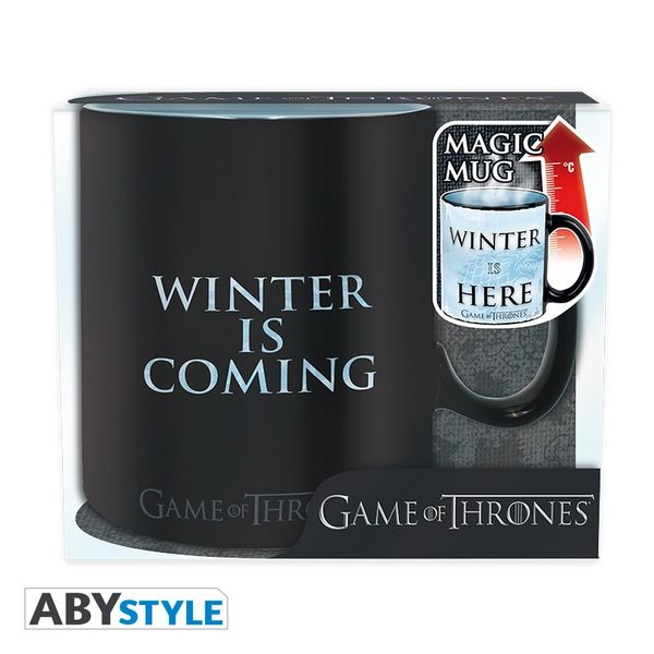 Game Of Thrones mug Heat Change 460 ml Winter is here Abystyle