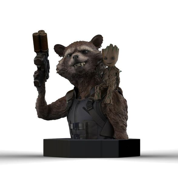 Les Gardiens de la Galaxie Vol. 2 buste Rocket Raccoon & Groot Semic