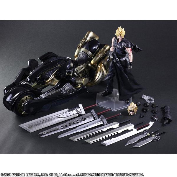 Final Fantasy VII Advent Children Play Arts Kai figurine Cloud Strife & Fenrir 28 cm Square Enix