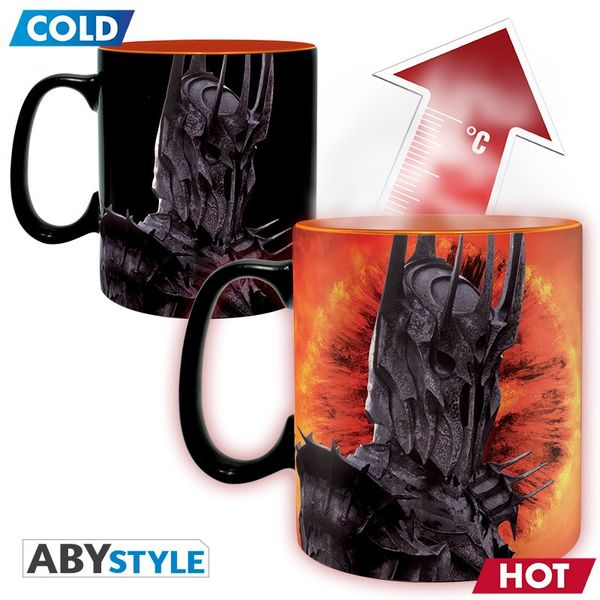 Lord Of The Ring Mug Heat Change 460 ml Sauron Abystyle LOTR