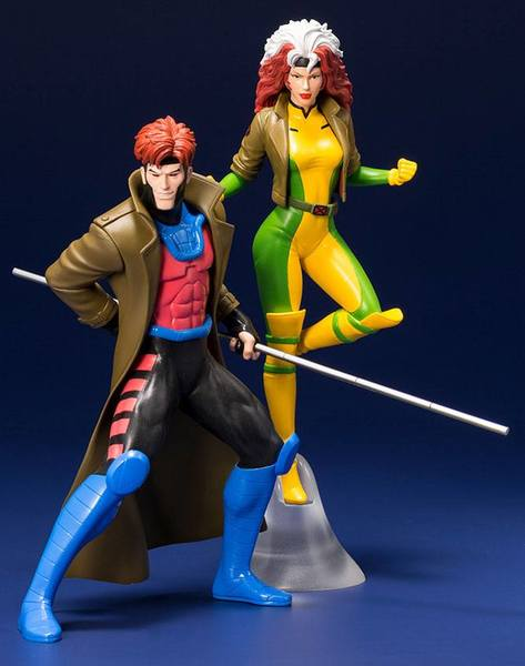 Marvel Universe pack 2 statues ARTFX+ Gambit & Rogue X-Men '92 Kotobukiya
