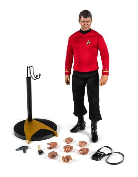 "Star Trek TOS figurine Master Series Lt. Commander Scott Scotty 12"" Quantum Mechanix"