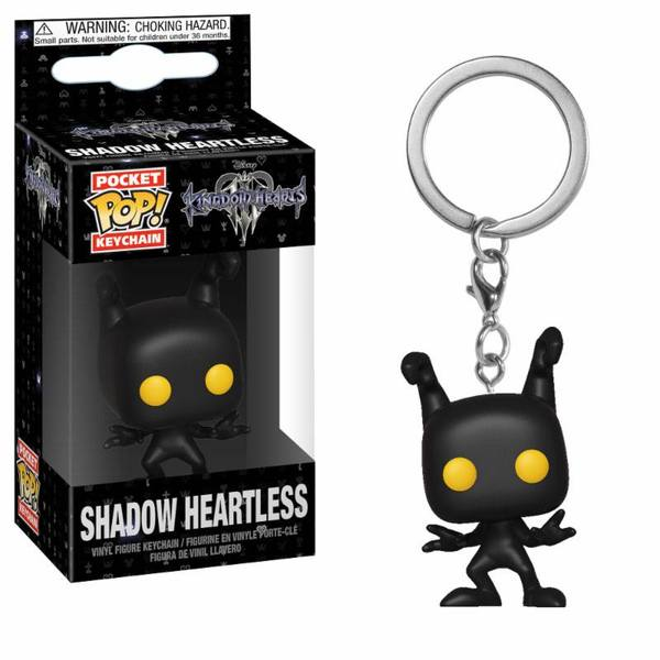 Kingdom Hearts 3 porte-clés Pocket POP! Vinyl Shadow Heartless Funko