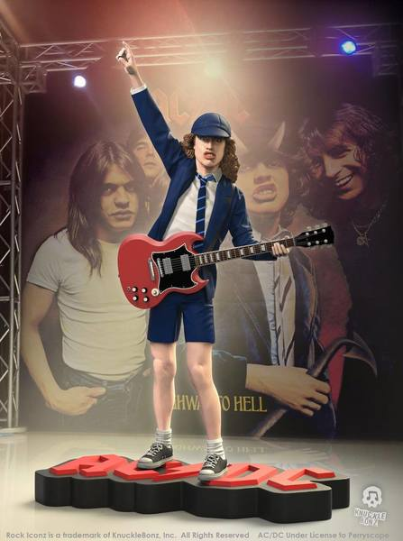 AC/DC statue Rock Iconz Angus Young II Knucklebonz
