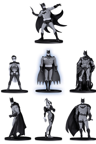 Batman Black & White pack 7 figurines PVC Box Set #2 DC Collectibles