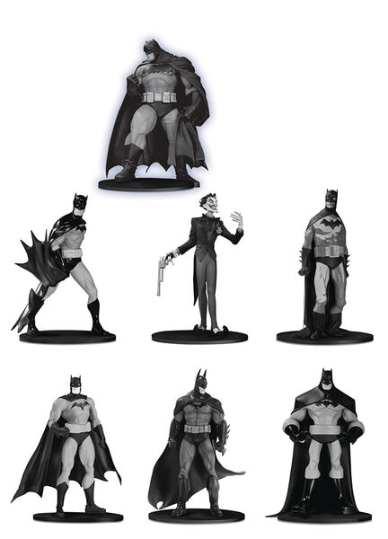 Batman Black & White pack 7 figurines PVC Box Set #3 DC Collectibles