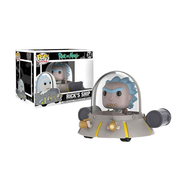 Rick et Morty POP! Rides Vinyl figurine Rick's Ship Space Cruiser Funko