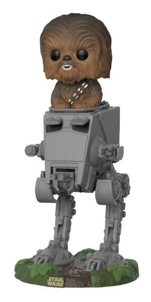 Star Wars POP! Deluxe Vinyl figurine Chewbacca with AT-ST Funko