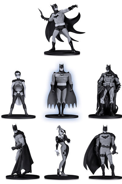 Batman Black & White pack 7 figurines PVC Box Set #4 10 cm