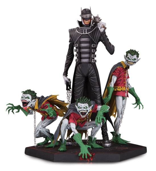 Dark Nights Metal statuette Deluxe Batman Who Laughs & Robin Minions 21 cm