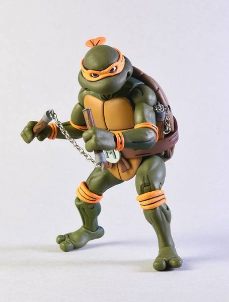 Les Tortues ninja pack 2 figurines Michelangelo vs Foot Soldier TMNT Neca