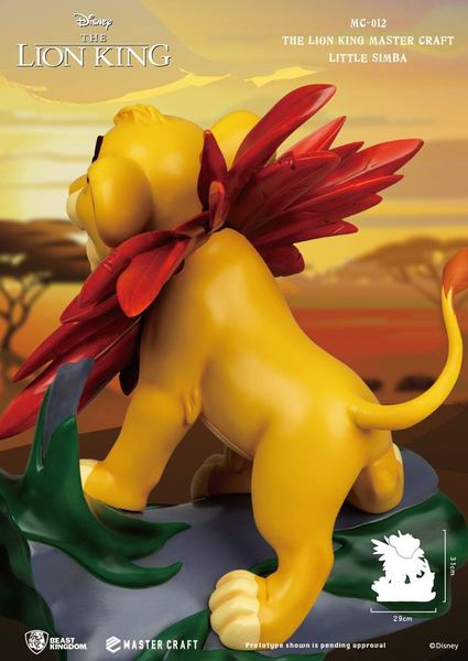 Disney Le Roi Lion statue Master Craft Little Simba Beast Kingdom