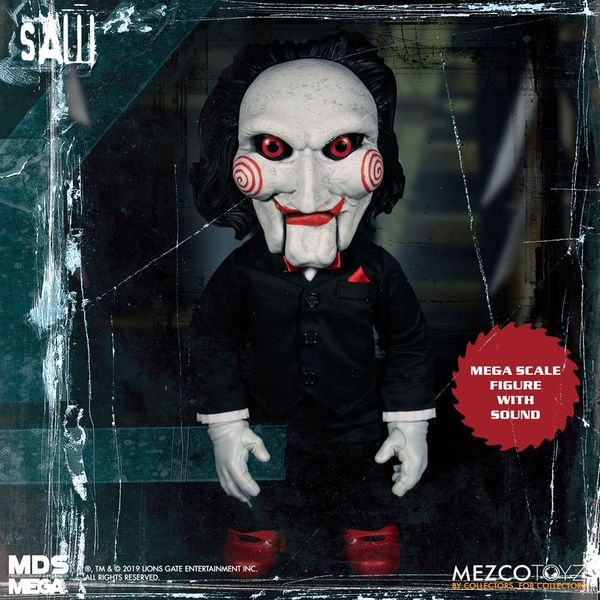 Saw figurine parlante Mega Scale Billy 38 cm Mezco