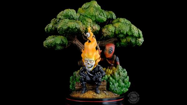 Marvel diorama Q-Master Deadpool x Ghost Rider Quantum Mechanix