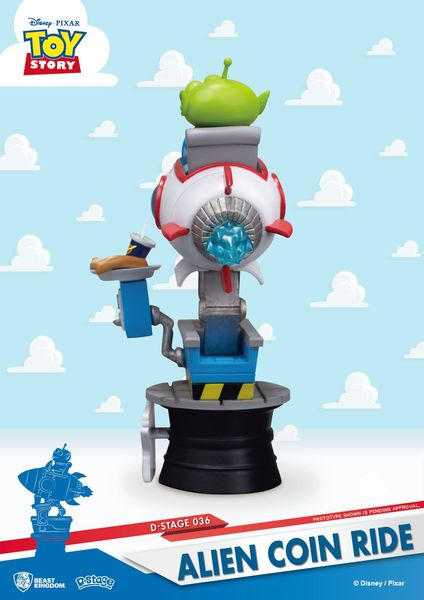 Toy Story diorama PVC D-Stage Alien Coin Ride Beast Kingdom