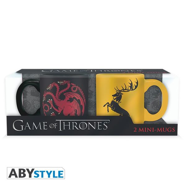 Game Of Thrones Set 2 mini-mugs 110 ml Targaryen & Baratheon Abystyle