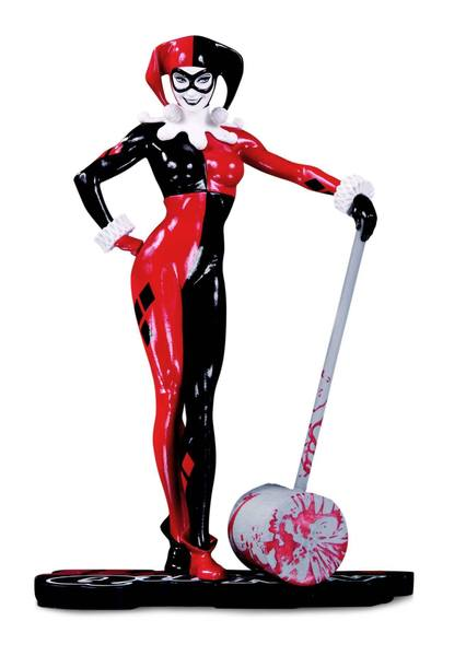 DC Comics Red, White & Black statuette Harley Quinn by Adam Hughes