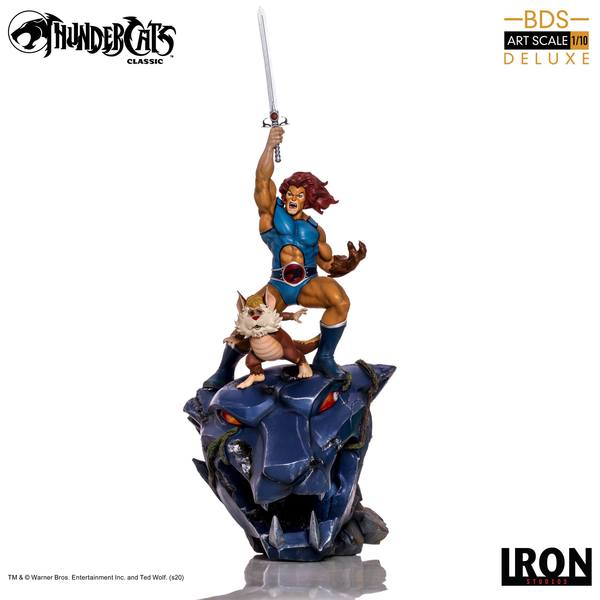 Cosmocats statuette BDS Art Scale 1/10 Lion-O & Snarf Deluxe THUNDERCATS Iron Studios