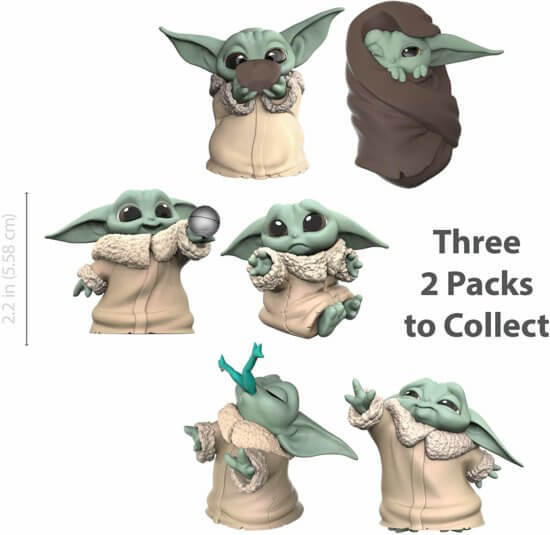 Star Wars Mandalorian Bounty Collection pack 2 figurines The Child Sipping Soup & Blanket-Wrapped Hasbro